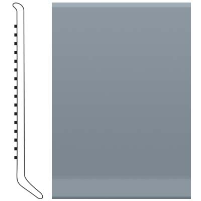 Roppe 4 Inch 1/8 Vinyl Cove Base Steel Blue Vinyl Flooring