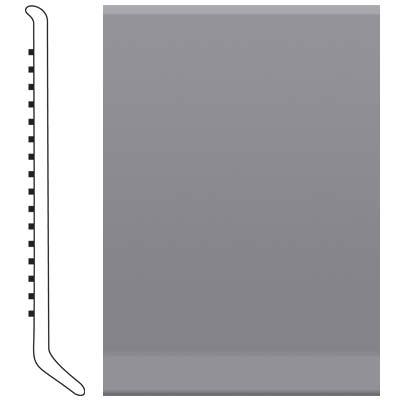 Roppe 4 Inch 1/8 Vinyl Cove Base Steel Gray Vinyl Flooring