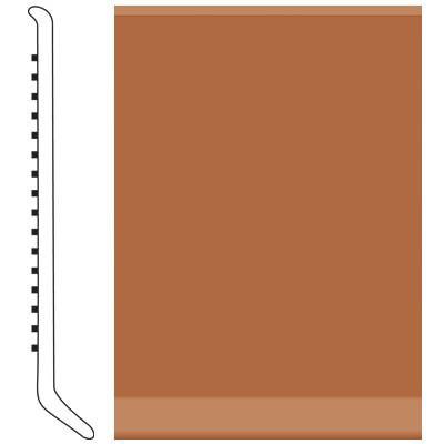 Roppe 4 Inch 0.080 Vinyl Cove Base Terracotta Vinyl Flooring