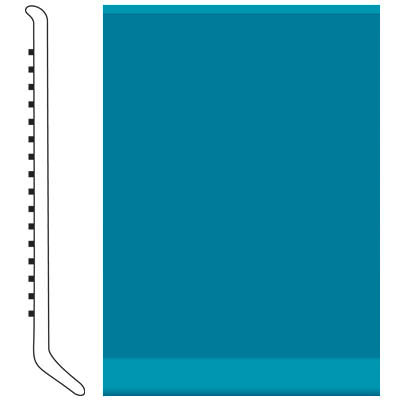 Roppe 4 Inch 1/8 Vinyl Cove Base Tropical Blue Vinyl Flooring