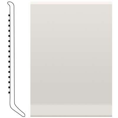 Roppe 6 Inch 1/8 Vinyl Cove Base White Vinyl Flooring
