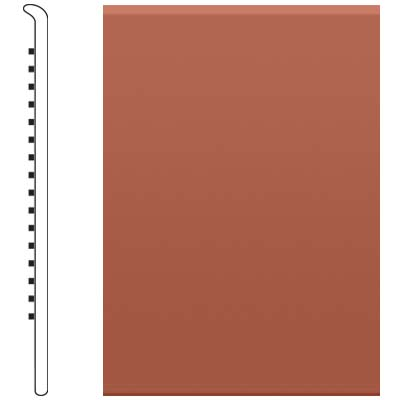 Roppe 6 Inch 1/8 Vinyl No Toe Base Brick Vinyl Flooring