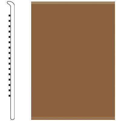 Roppe 6 Inch 1/8 Vinyl No Toe Base Bronze Vinyl Flooring