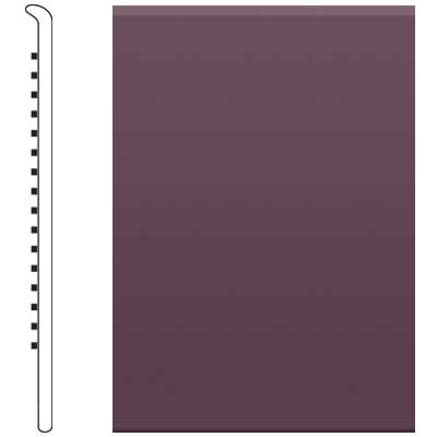 Roppe 2.5 Inch 1/8 Vinyl No Toe Base Burgundy Vinyl Flooring