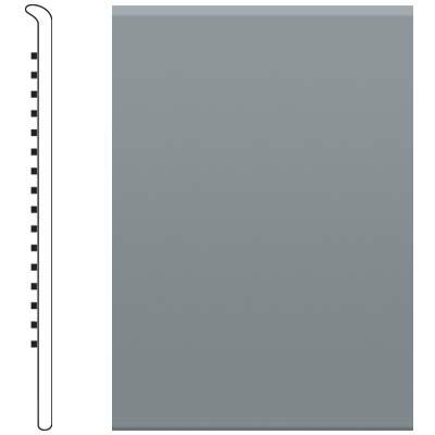 Roppe 6 Inch 1/8 Vinyl No Toe Base Dark Gray Vinyl Flooring
