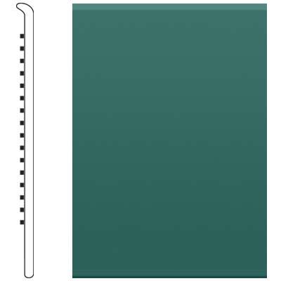Roppe 6 Inch 1/8 Vinyl No Toe Base Forest Green Vinyl Flooring