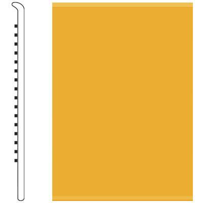 Roppe 2.5 Inch 0.080 Vinyl No Toe Base Golden Vinyl Flooring