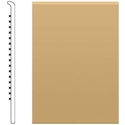 Roppe 2.5 Inch 0.080 Vinyl No Toe Base Harvest Yellow Vinyl Flooring