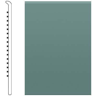Roppe 2.5 Inch 1/8 Vinyl No Toe Base Hunter Green Vinyl Flooring