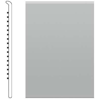 Roppe 2.5 Inch 0.080 Vinyl No Toe Base Light Gray Vinyl Flooring