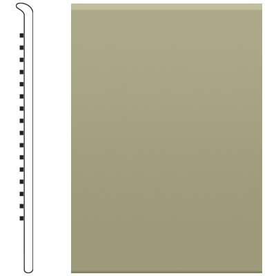 Roppe 4 Inch 0.080 Vinyl No Toe Base Moss Vinyl Flooring