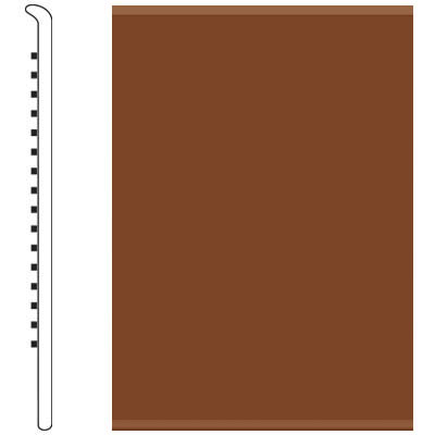 Roppe 2.5 Inch 1/8 Vinyl No Toe Base Nutmeg Vinyl Flooring