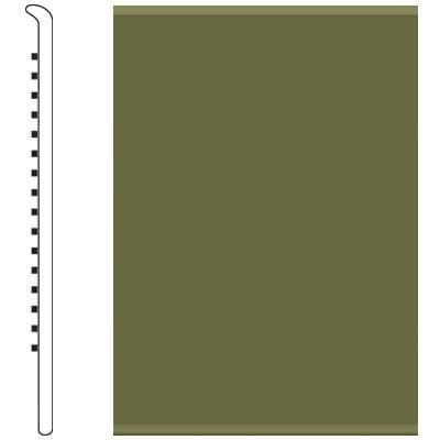 Roppe 2.5 Inch 0.080 Vinyl No Toe Base Olive Vinyl Flooring