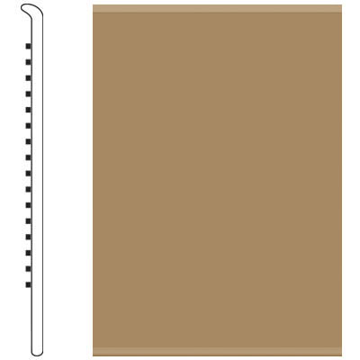 Roppe 2.5 Inch 0.080 Vinyl No Toe Base Sahara Vinyl Flooring