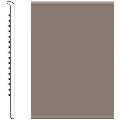 Roppe 4 Inch 1/8 Vinyl No Toe Base Taupe Vinyl Flooring