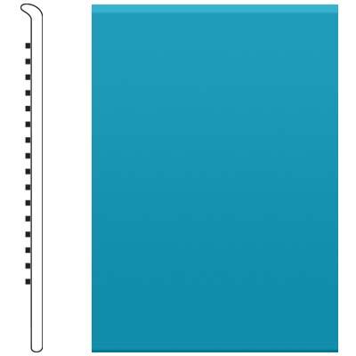 Roppe 2.5 Inch 1/8 Vinyl No Toe Base Tropical Blue Vinyl Flooring