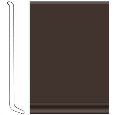VPI Corp. Cove Base Vinyl 080 Chocolate Vinyl Flooring