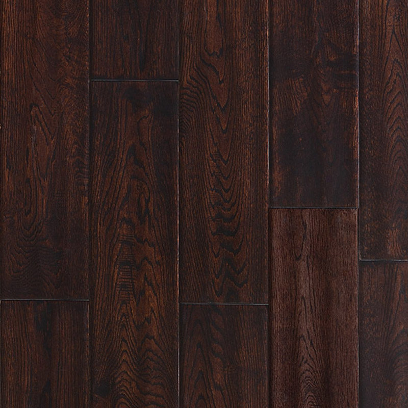 Ark Floors Artistic Distressed Solid 4 3/4 Oak Tobacco Hardwood Flooring