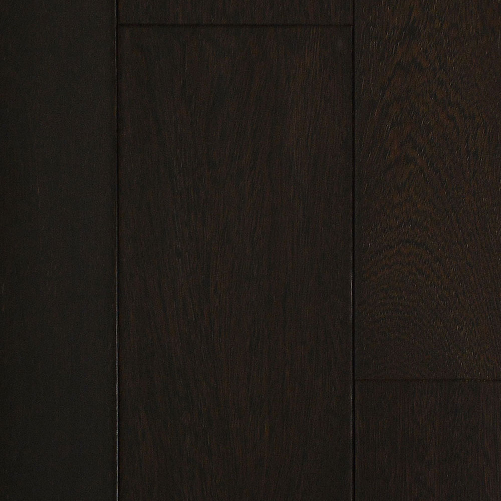 IndusParquet Solid Handscraped 5 1/2 Brazilian Angelim Ebony (Black) - High Sheen Hardwood Flooring