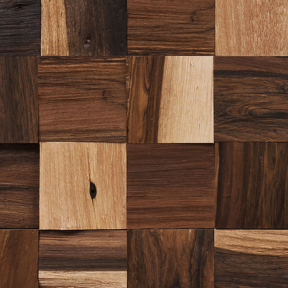 IndusParquet Coterie Sculptured Wall 2 3/4 x 2 3/4 Brazilian Pecan Hardwood Flooring