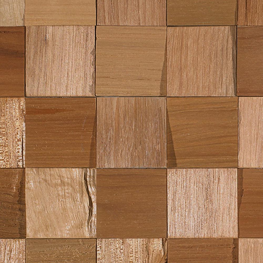 IndusParquet Coterie Sculptured Wall 2 3/4 x 2 3/4 Tauari Hardwood Flooring