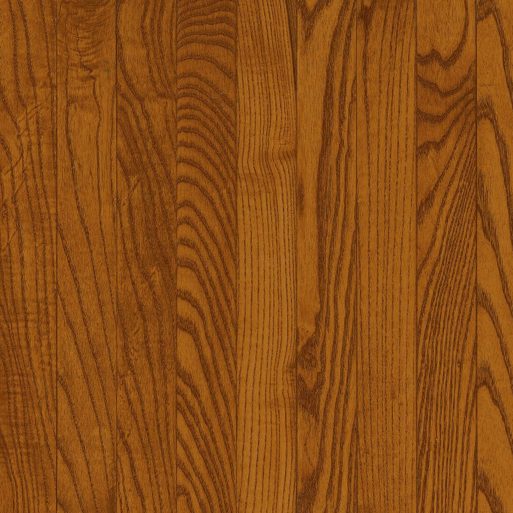 Bruce Natural Choice Strip Oak 2 1/4 Oak Gunstock (Sample) Hardwood Flooring
