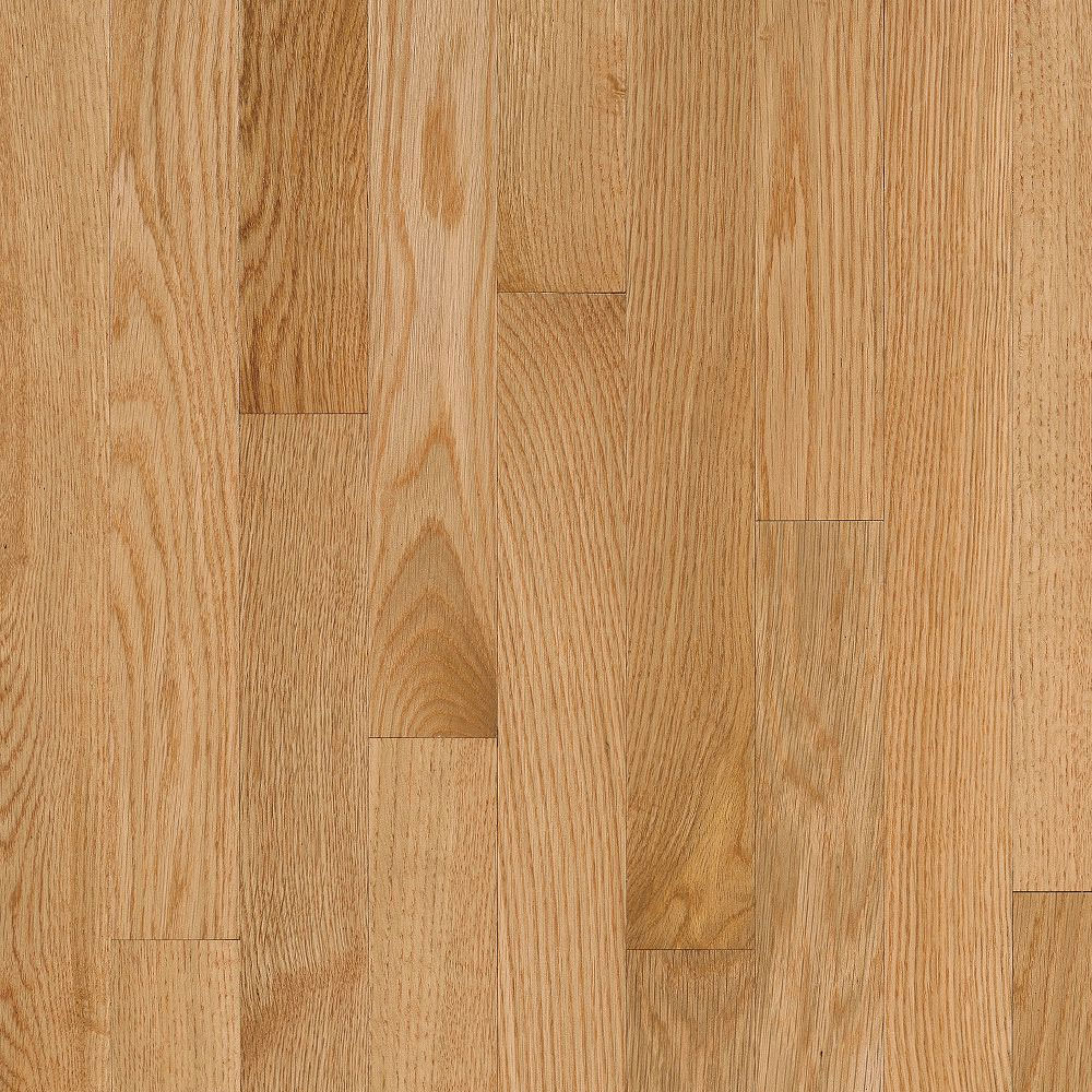 Bruce Natural Choice Strip Oak 2 1/4 - Low Gloss Natural (Sample) Hardwood Flooring