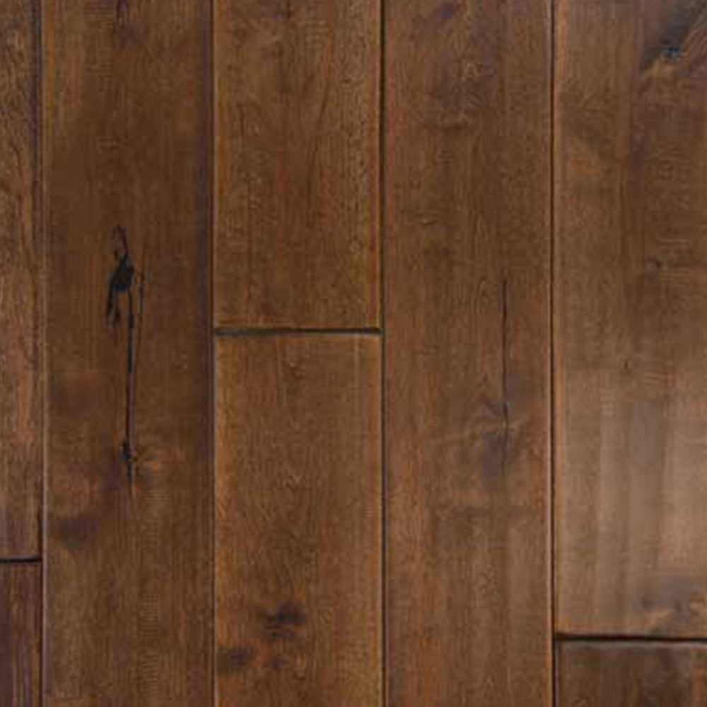 Chesapeake Flooring Woodbrook Birch Solid Plank 4 3/4 Inch Cordova Brown Hardwood Flooring