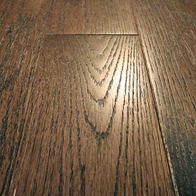 Mullican Frontier Wire Brushed Solid 4 Oak Tuscan Brown Hardwood Flooring