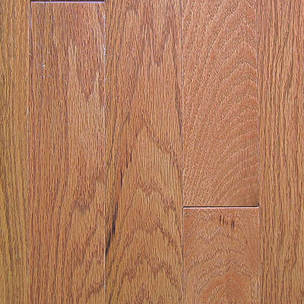 Mullican Oak Pointe 2 1/4 Oak Gunstock (Sample) Hardwood Flooring