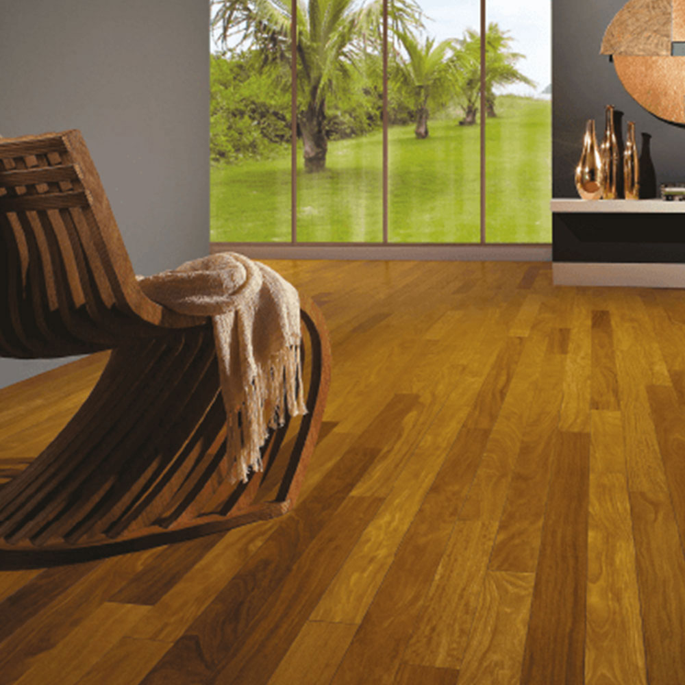 Triangulo Engineered 3/8 x 3-1/4 (200 Series) Brazilian Teak Hardwood Flooring