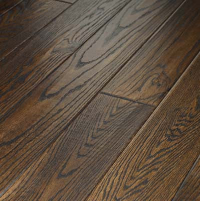 Zickgraf Brentwood Hand Scraped Oak 5 Inch Roan Brown Hardwood Flooring